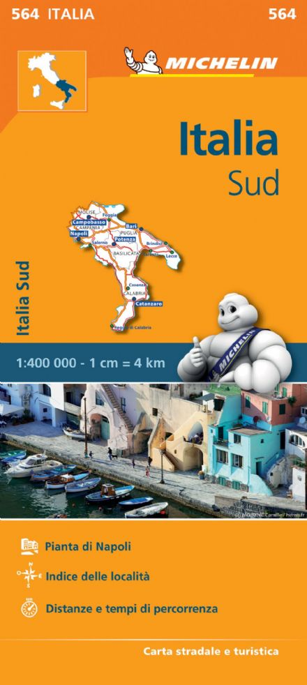 564 Italy South - Michelin Regional Map